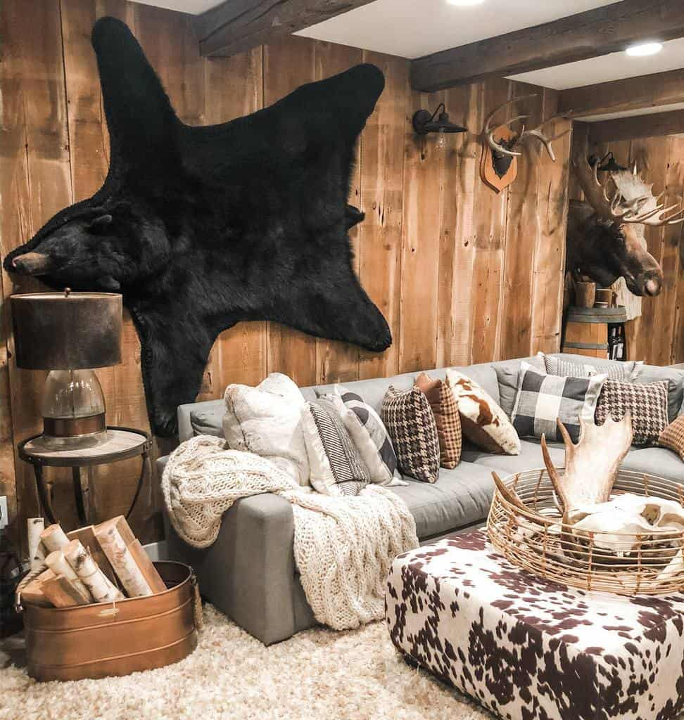 rustic small basement ideas e.lynndesign