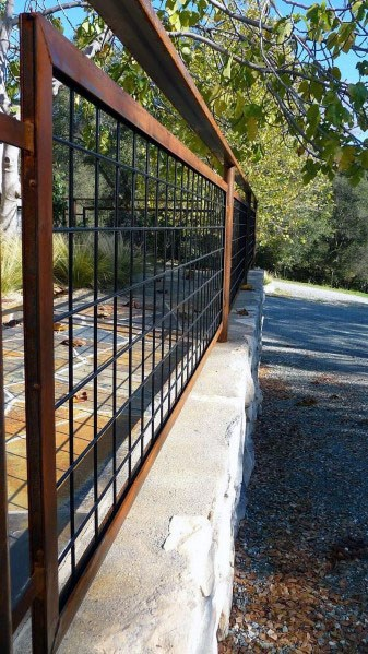 Rustic Steel Exceptional Dog Fence Ideas