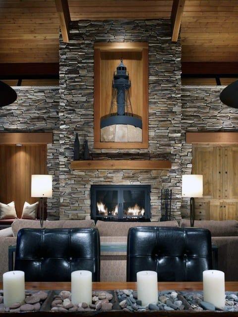Rustic Stone Fireplace Designs