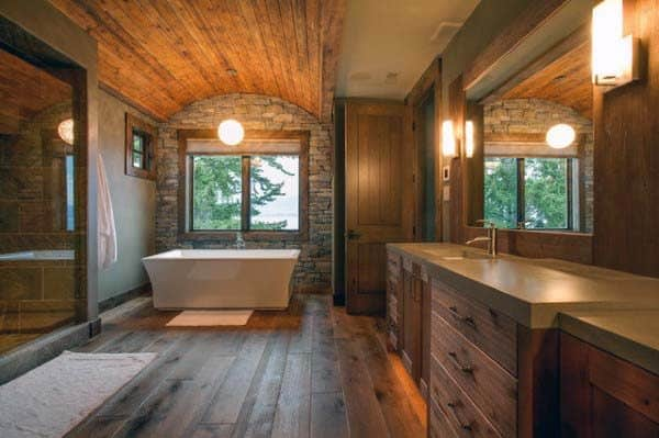 Rustic Themed Bathrooms