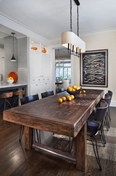 Rustic Themed Dining Rooms