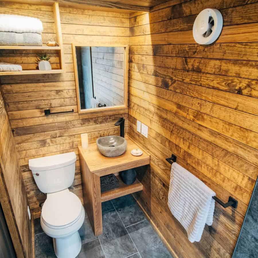 Rustic Tiny Bathroom Ideas Windrivertinyhomes