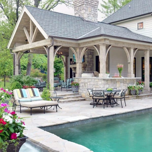 Rustic Traditional Designs For Patio Roof