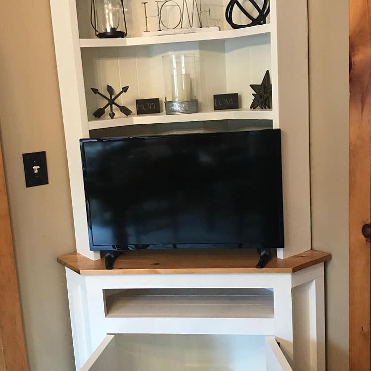 Rustic Tvstand Corner Entertainment Cabinets Kytacustomfurniture