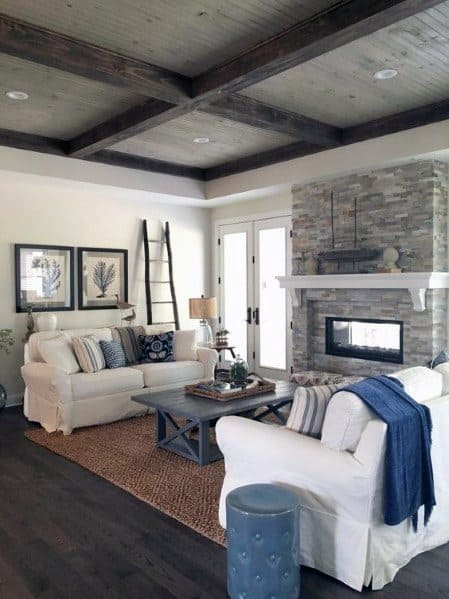 Rustic Vintage Wood Ceiling Ideas
