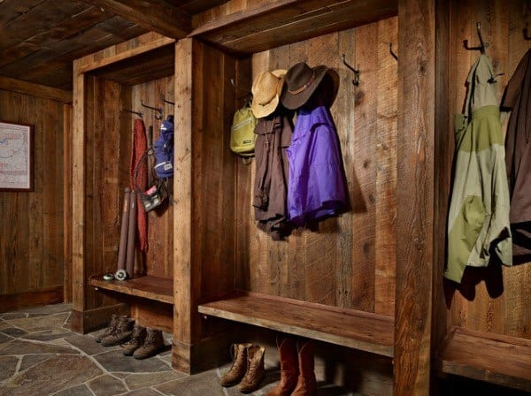 Rustic Vintage Wood Mudroom Ideas