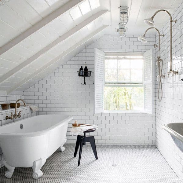 Rustic White Bathroom Interior Design