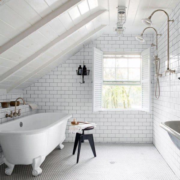 Rustic White Bathroom Interior Design