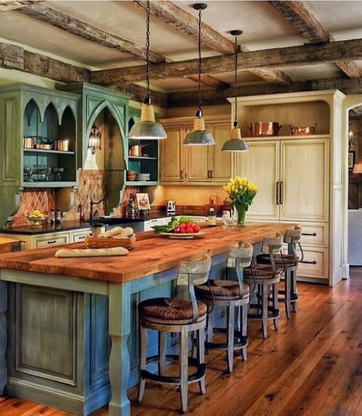 Rustic Wood Beam Kitchen Ceiling Ideas