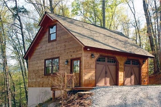 Rustic Wood Detached Garage Ideas