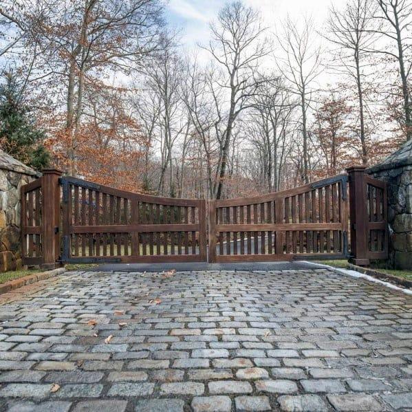 Rustic Wood Driveway Gate Ideas