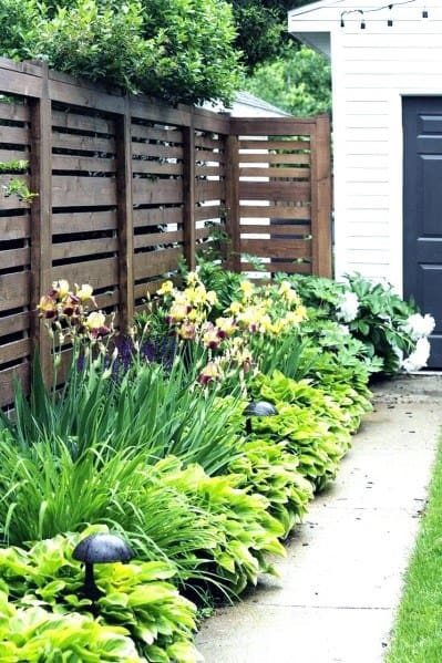 Rustic Wood Front Yard Fence Design Ideas