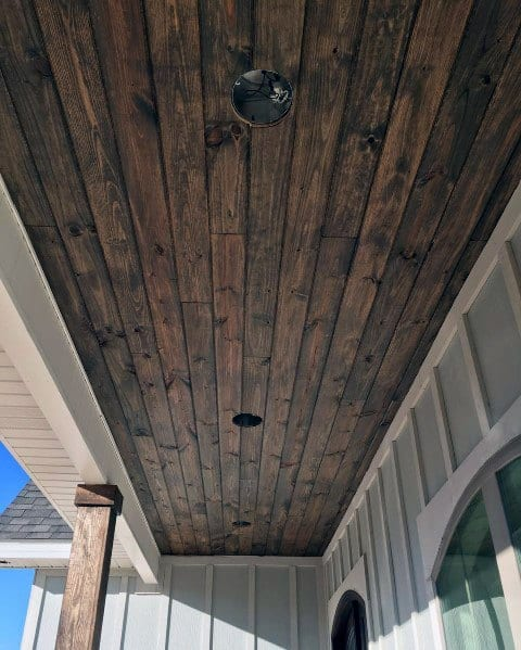 Rustic Wood Look Outdoor Ideas Porch Ceiling