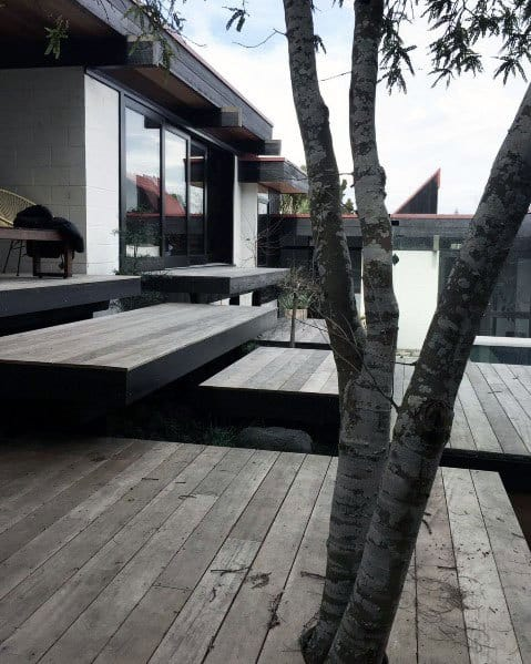 Rustic Wood Modern Design Ideas Floating Deck