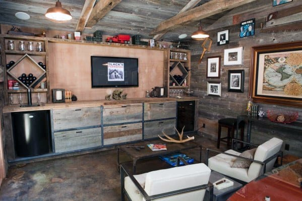 Rustic Wood Panel Walls Awesome Man Caves For Men