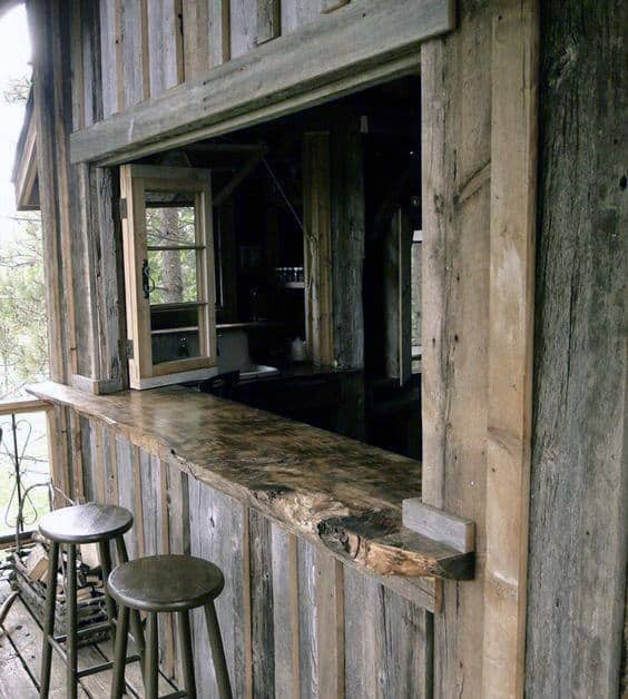 Rustic Wood Shed Bar Ideas