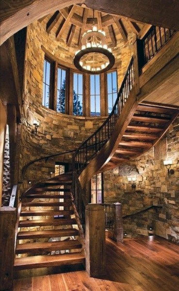 Rustic Wood Staircase Ideas
