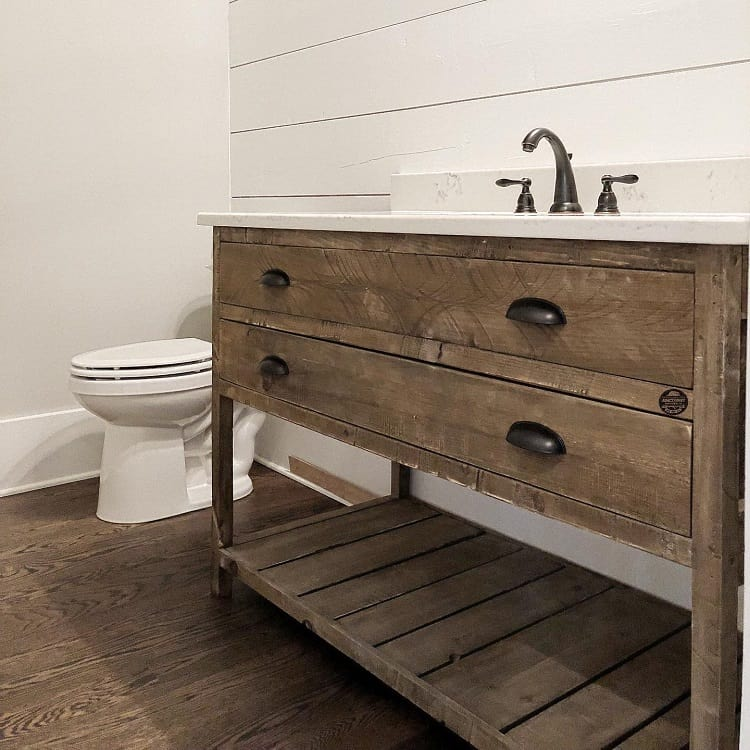Rustic Wood Work Farmhouse Bathroom Vanity Junc2funkt
