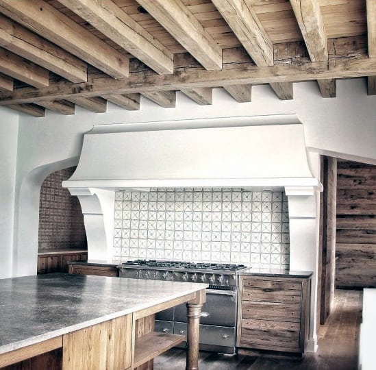 Rustic Wooden Designs Kitchen Ceiling