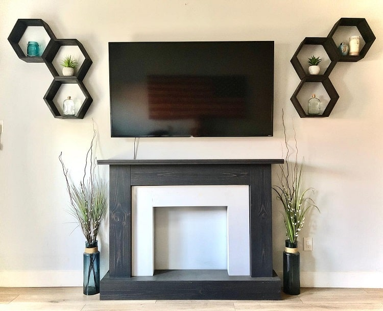 Rustic Woodwork Faux Fireplace Surround Jilldunnfit