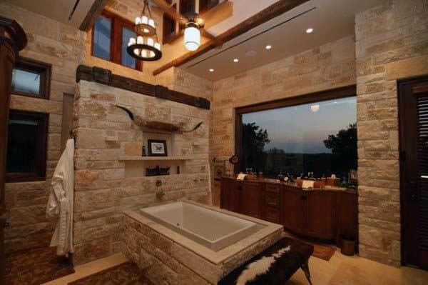 Rusttic Themed Bathroom Ideas
