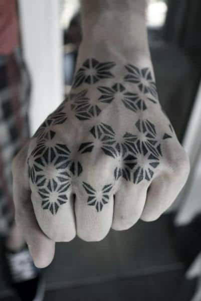Sacred Geometry Geometric Pattern Knuckle Mens Tattoos