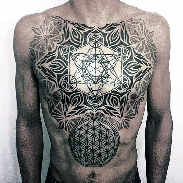 sacred-geometry-male-flower-of-life-chest-tattoos