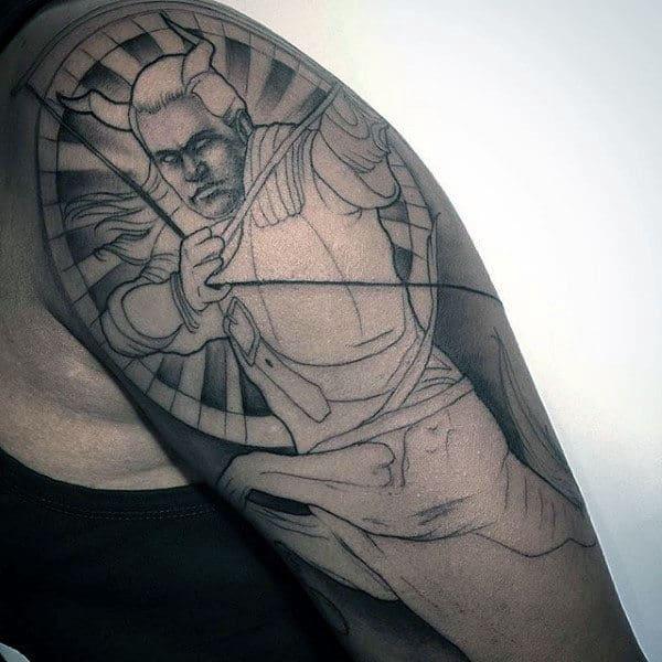 Sagittarius Mens Sleeve Tattoo Inspiration