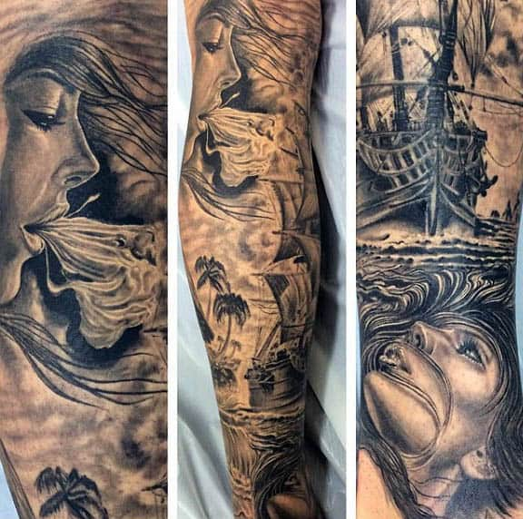 Sailing Tattoos For Males