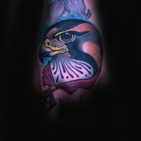 Sailor Falcon Mens Hand Tattoos