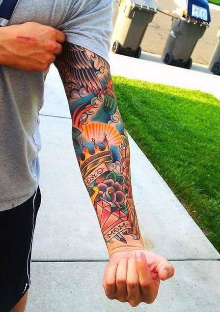 100 Forearm Sleeve Tattoo Designs For Men - Manly Ink Ideas