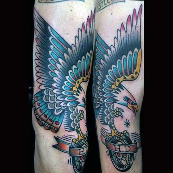 Sailor Jerry Guys Harley Davidson Eagle Old School Tattoos