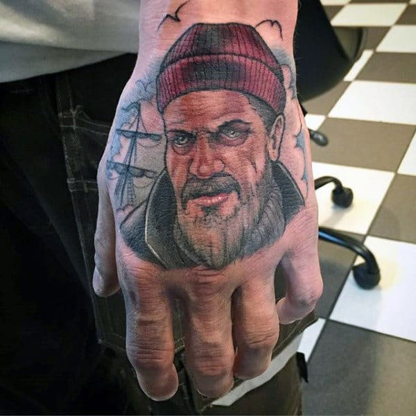 Sailor Nautical Mens Tattoos On Hands