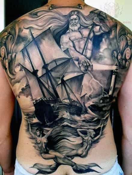 Sailor Ship Tattoo Men
