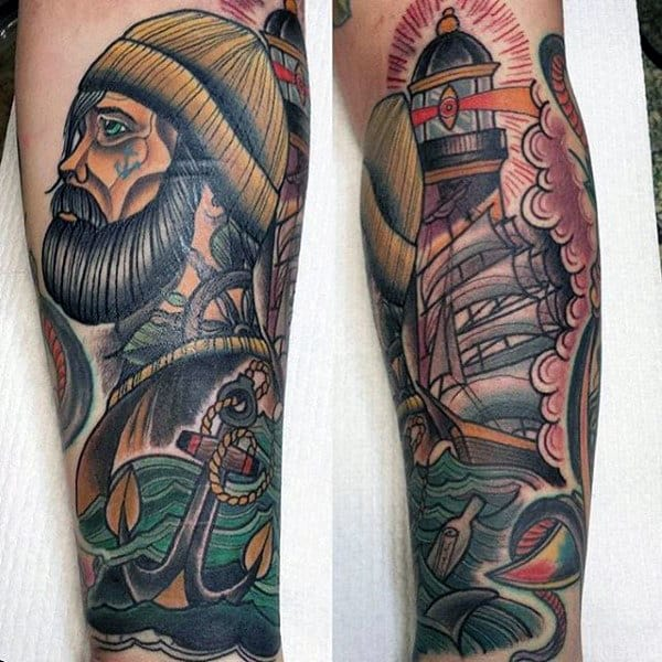 Sailor Sleeve Tattoos For Men