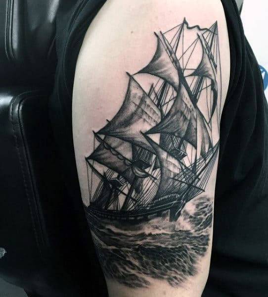 Sailor Style Tattoos For Males On Arm