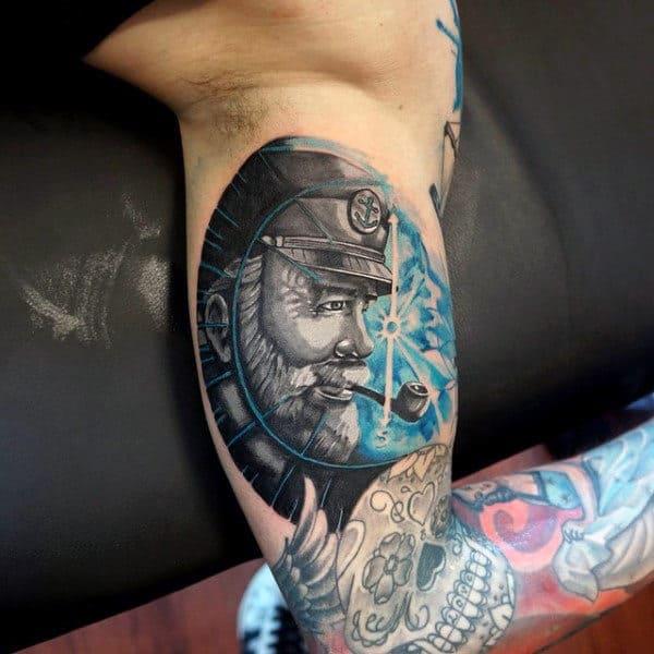 Sailor Tattoo Design For Men On Bicep