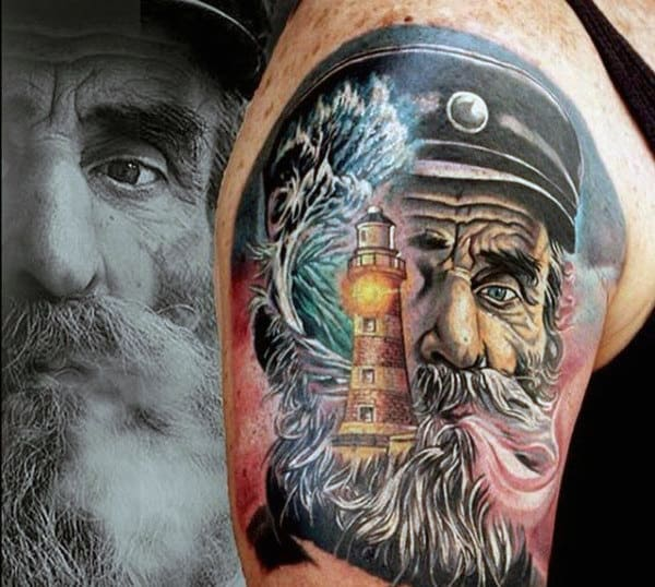 Sailor Tattoo Designs For Males Upper Arm