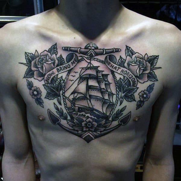 Sailors Tattoos For Men On Chest
