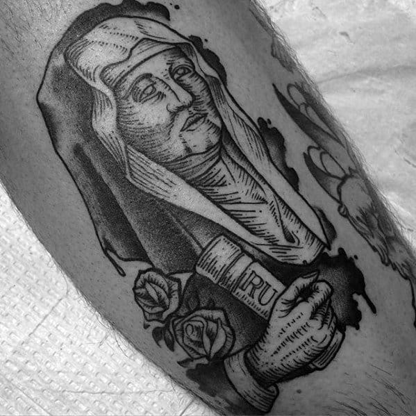 Saint Monica Catholic Mens Arm Tattoo