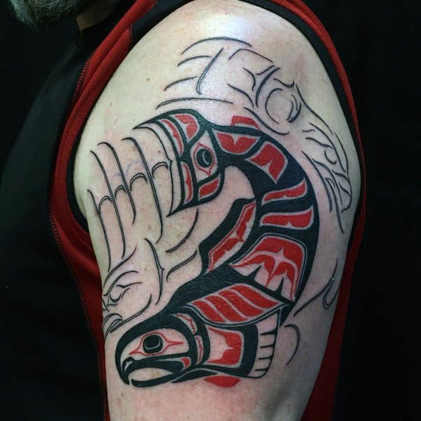 Salmon Tattoo Designs For Men