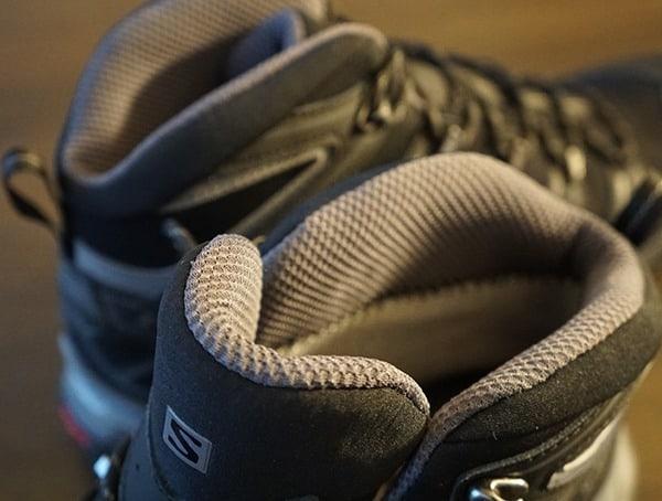 Salomon Mens X Ultra Mid 2 Spikes Gtx Winter Hiking Shoes Tounge