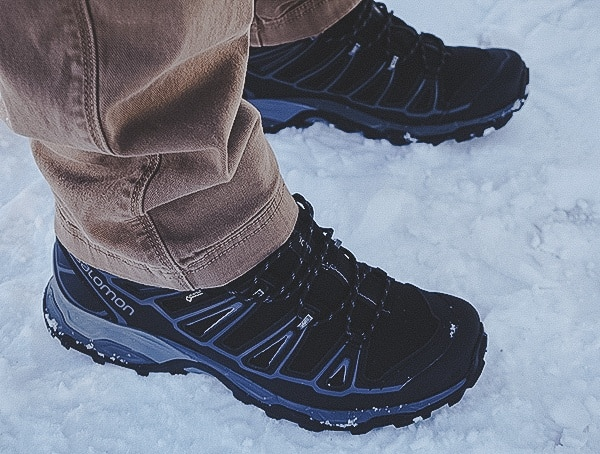 Salomon X Ultra Mid 2 Spikes Gtx Hiking Boots On Snow Review