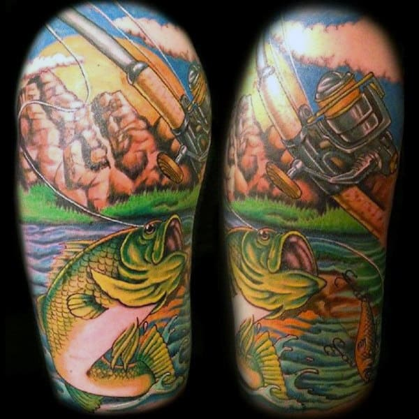 Saltwater Fishing Men's Tattoos