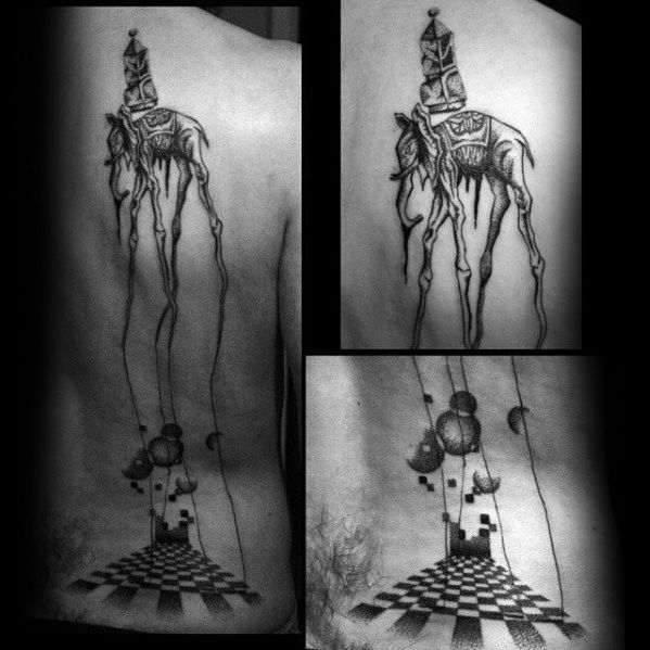 Salvador Dali Elephant Back Guys Tattoo Designs