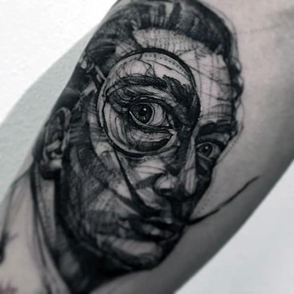 Salvador Dali Tattoo Ideas On Guys
