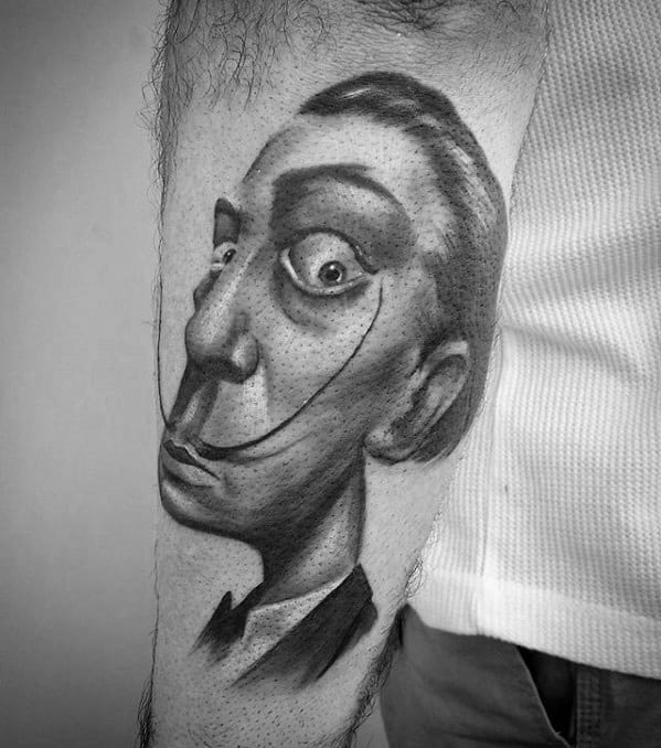 Salvador Dali Tattoos Guys