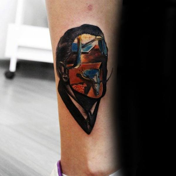 Salvador Dali Tattoos Male