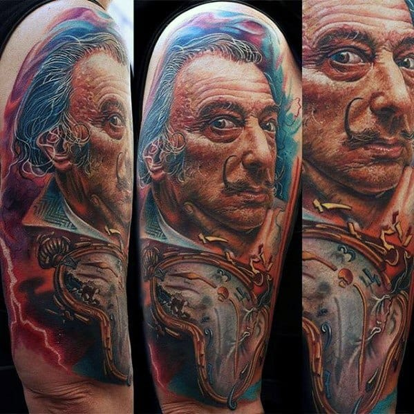 Salvador Dali Tattoos Men