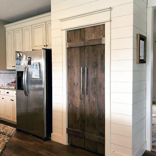 Salvaged Barn Wood Interior Ideas Kitchen Pantry Door